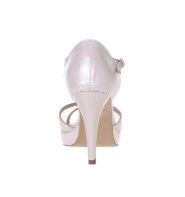Sandale mireasa piele ivory plasa bej