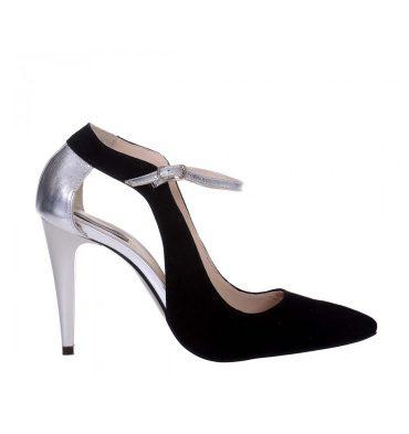 pantofi-stiletto-piele-intoarsa-neagra-piele-argintie-toc-inalt-1
