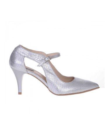 pantofi-toc-jos-piele-naturala-argintie-imprimeu-sarpe-1