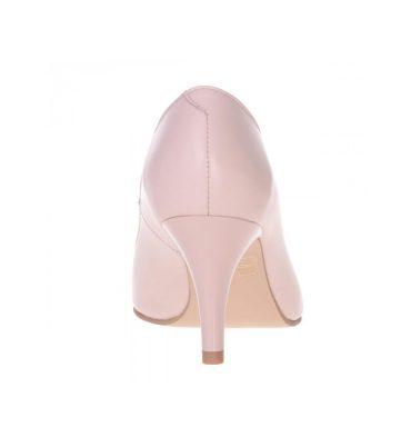 Pantofi nude somon stiletto piele naturala toc jos