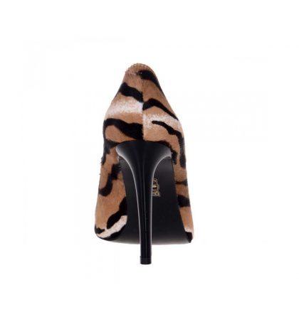 Pantofi stiletto ponei piele naturala