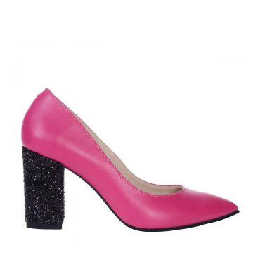 pantofi-piele-fucsia-toc-gros-glitter-negru-1