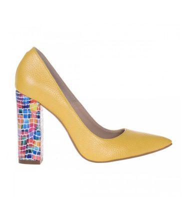 pantofi-galbeni-piele-toc-gros-piele-multicolora-1