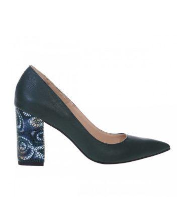 pantofi-dama-cu-toc-gros-piele-verde-si-piele-imprimeu-1