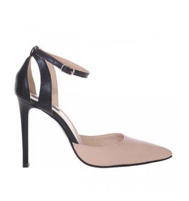 pantofi-stiletto-eleganti-piele-crem-si-piele-neagra-1