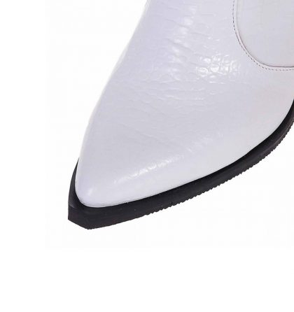 Ciocate albe piele imprimeu croco