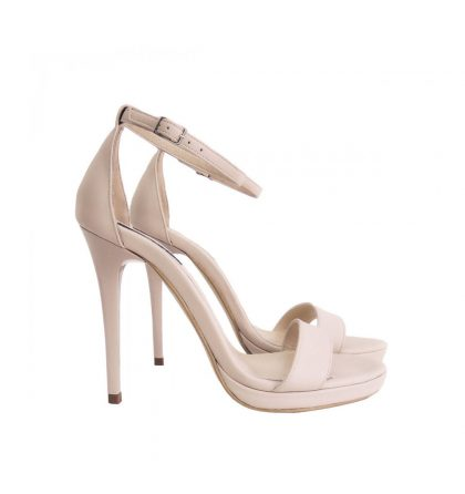 Sandale piele nude toc inalt