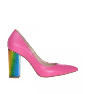 pantofi-piele-roz-cu-toc-gros-multicolor-1