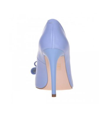 Pantofi bleu stiletto piele naturala