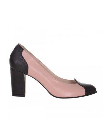 pantofi-office-toc-jos-piele-roz-pudra-si-piele-neagra-1