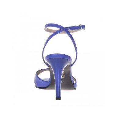 Sandale dama comode din piele albastra