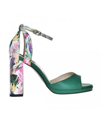 sandale-dama-toc-gros-piele-verde-si-piele-cu-imprimeu-floral-1