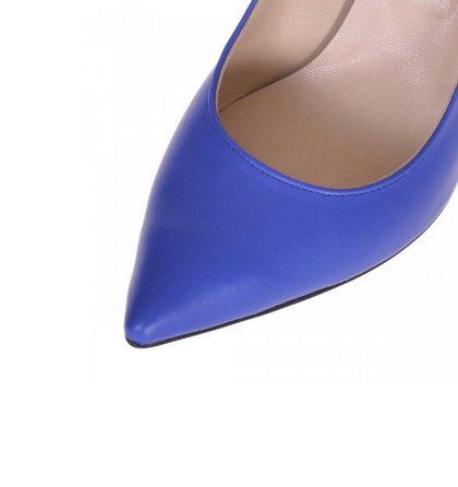 Pantofi comozi din piele albastra