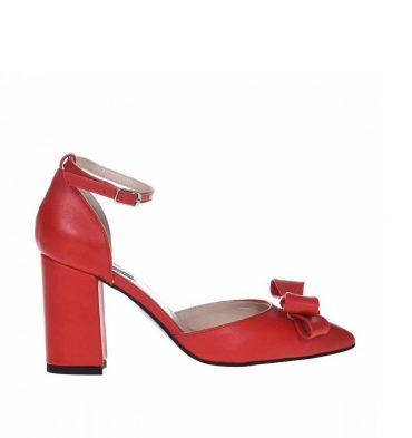 pantofi-toc-gros-din-piele-rosie-cu-funda-1