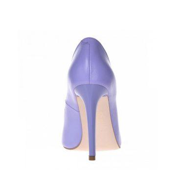 Pantofi mov lila stiletto din piele naturala