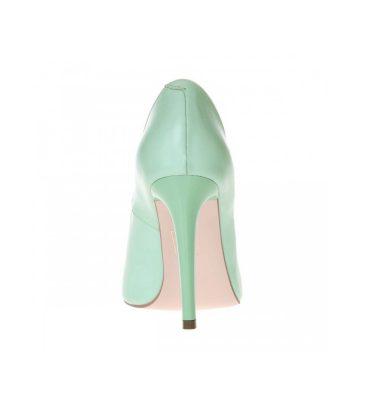 Pantofi verde menta stiletto din piele naturala